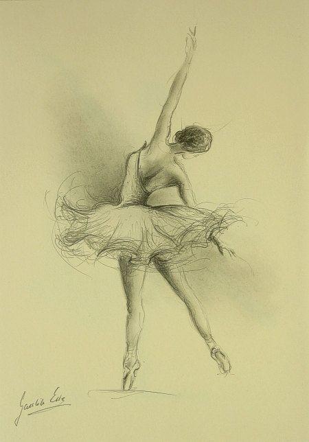 ORIGINAL pencil drawing 12 x 8 on CREAM paper of por EwaGawlik