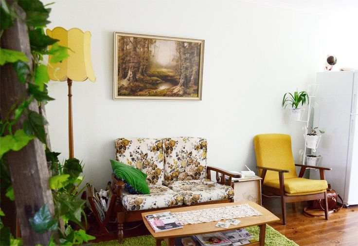 Green and yellow office color scheme inspiration
