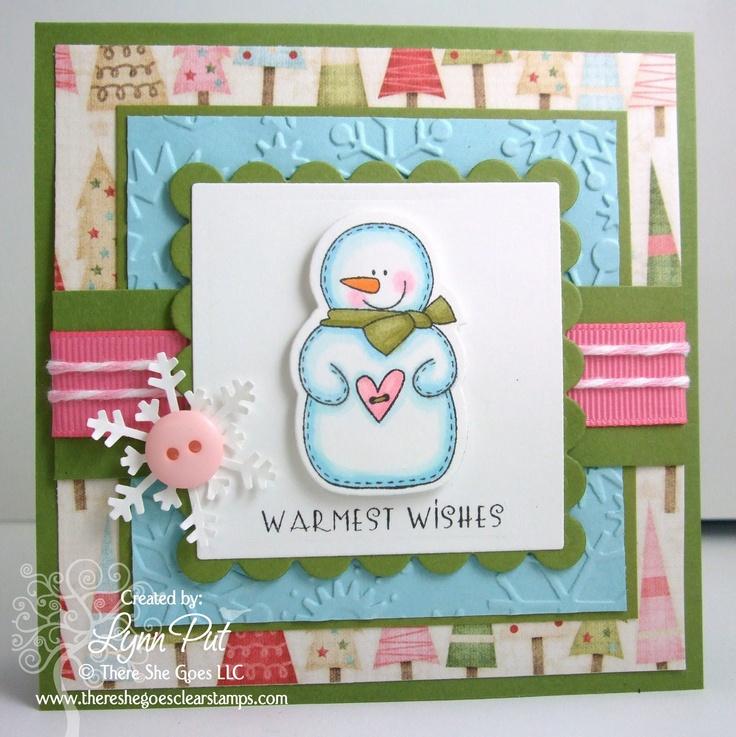 Super cute!!! #cards #card_making #Christmas #snowman