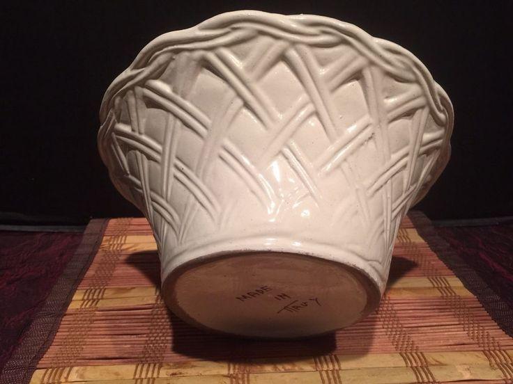 "Decorative Ceramic Large Bowl Handmade in Italy 8 7/8""x4 1/8"" #Handmade #Country"