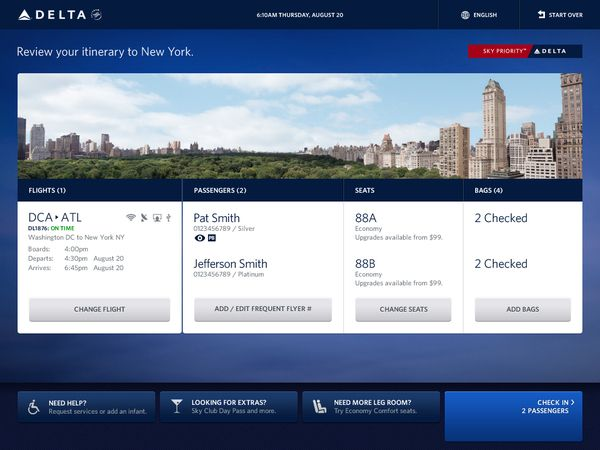 Delta Airlines Kiosk by Rodney Curl, via Behance