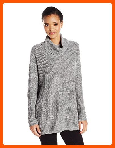 BCBGeneration Women's Cowl Neck Sweater, Marled Heather Grey, X-Small - All about women (*Amazon Partner-Link)