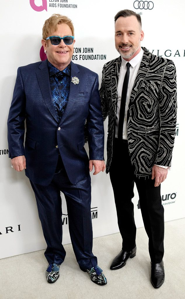 Elton John & David Furnish from Oscars 2016: Party Pics  The pair prepare to host their annual Oscars party!