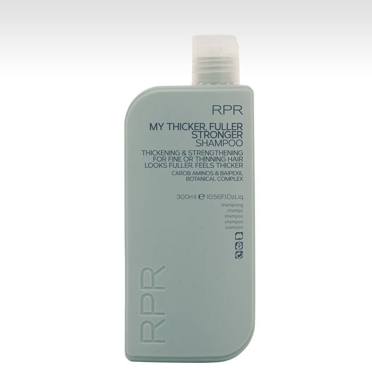 RPR My Thicker Fuller Stronger Shampoo - thickening and strengthening for fine or thinning hair. With Carob Aminos & Baipexil Botanical Complex. www.rprhaircare.com.au