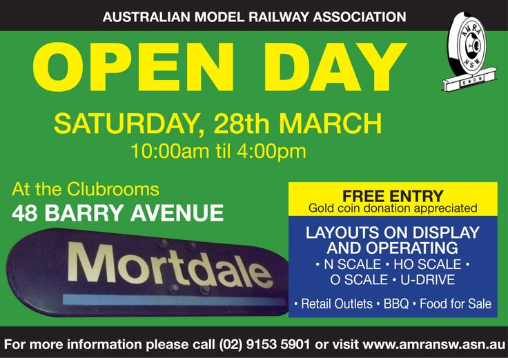 OPEN DAY!!! Anyone want to see our clubhouse? Well you can on the Saturday 28th March 2015....  Featuring large N, HO, and O scale layouts on display with a small number retail outlets attending. There will also be a BBQ available.