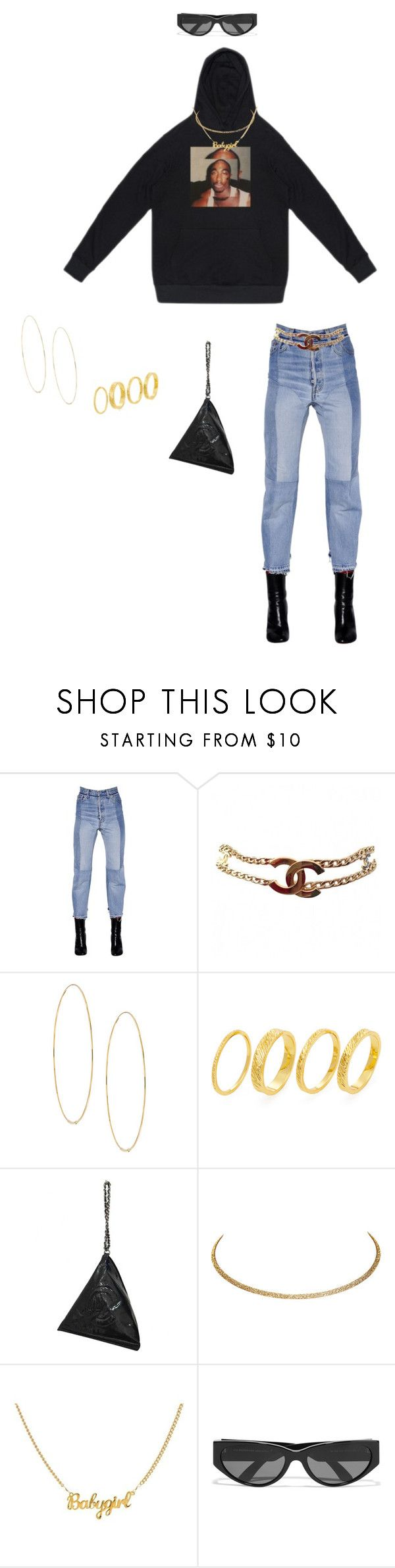 """Untitled #320"" by cymonejanae ❤ liked on Polyvore featuring Vetements, Chanel, Lana, Gorjana, Wet Seal and Balenciaga"