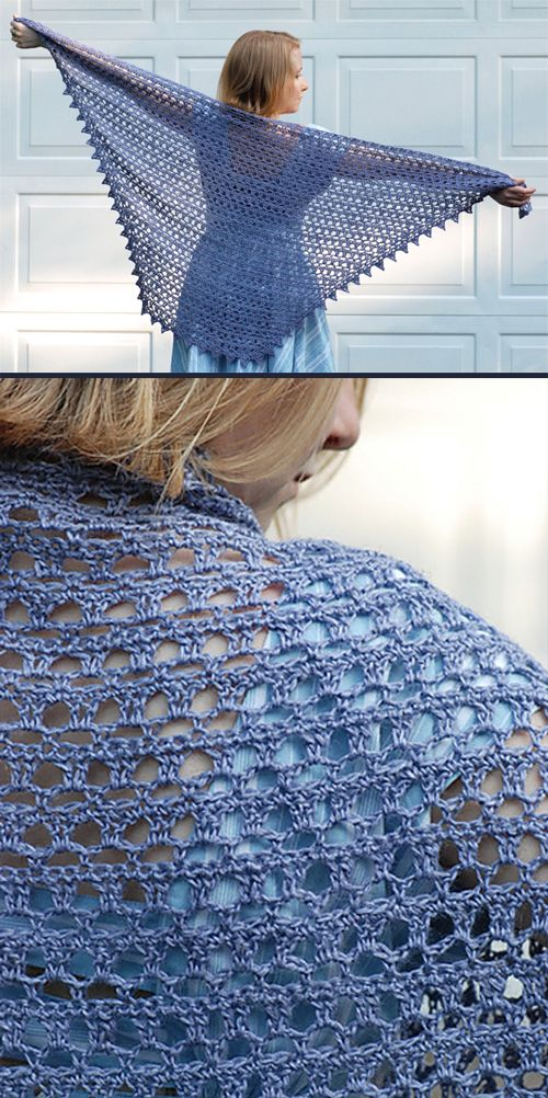 The Diaphanous Shawl crocheted in Classic Elite Yarns Firefly – beautiful airy and light fabric with nice drape