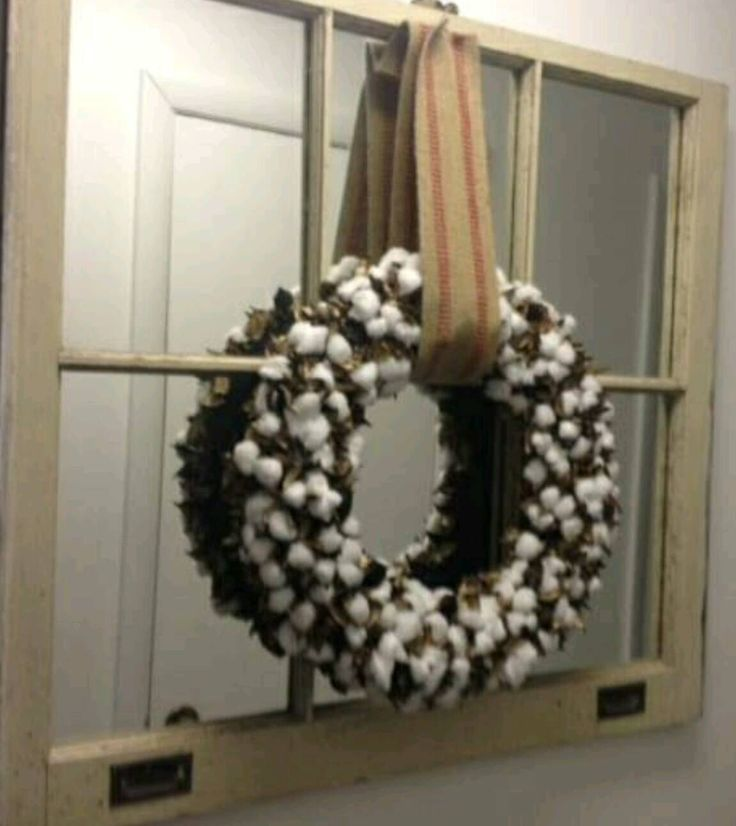 Cotton wreath,  door wreath, Rustic wreath, Rustic cotton wreath, Rustic cotton boll wreath. Birthday gift, Christmas gift, Holiday wreath by AllKindsOfDesigns on Etsy https://www.etsy.com/listing/259386144/cotton-wreath-door-wreath-rustic-wreath