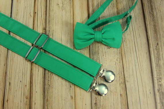 2b1b0f4e03fc Kale Green Emerald Bow Tie and Suspenders set Similar Davids Bridal Emerald  (Men, boys, baby, toddl | Products | Suspenders, Boys bow ties, Tie