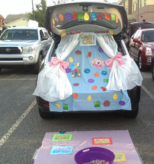 candy crush trunk or treatcrushestrunksdecorating ideashomescandyhalloween
