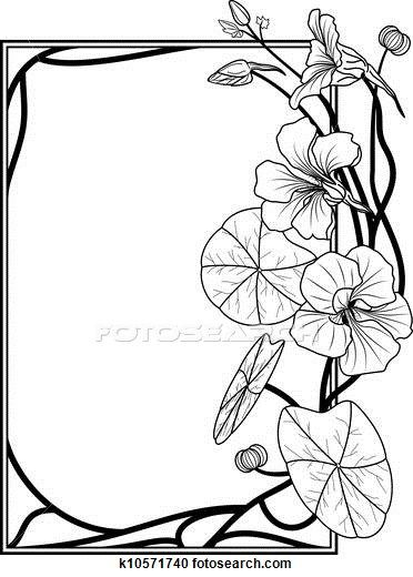 Clipart of nasturtium frame k10571740 - Search Clip Art, Illustration Murals, Drawings and Vector EPS Graphics Images - k10571740.eps