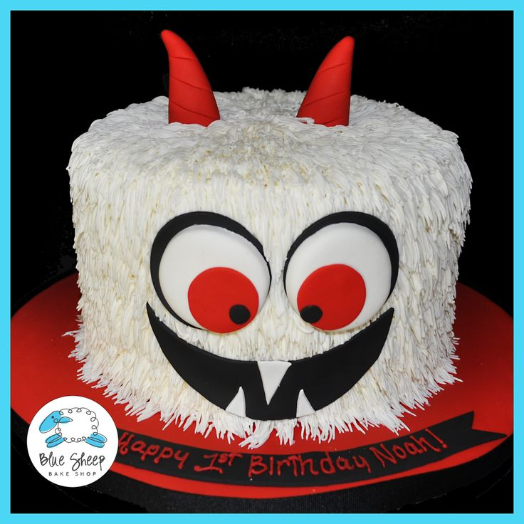 butter cream monster birthday cake nj