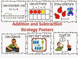 Addition and Subtraction Strategy posters free!