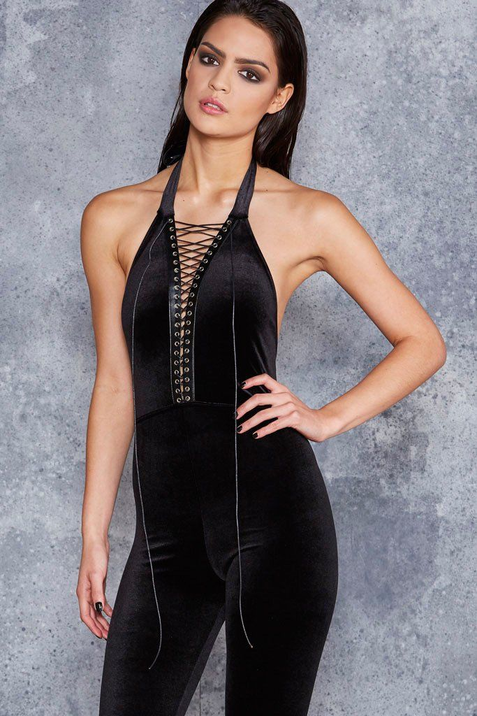 The Bound Velvet Catsuit - LIMITED