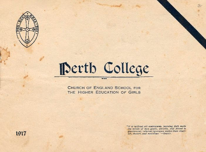 Perth College : Church of England school for the higher education of girls, 1917.