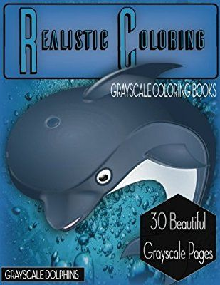 Realistic Coloring Grayscale Dolphins Animals