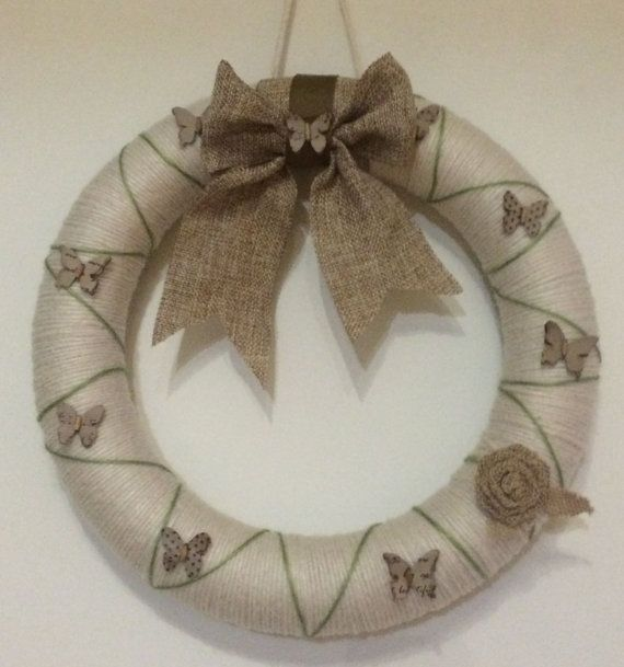 This elegant wreath will be a great decor for your home. MariasChicDesigns