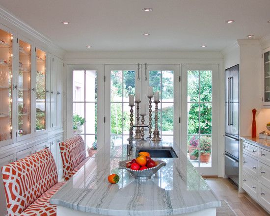 Gorgeous!: Kitchens Design, Contemporary Kitchens, French Doors, Interiors Design, Kitchens Islands, Hay Interiors, Kitchens Countertops, Bar Stools, Leslie Hay