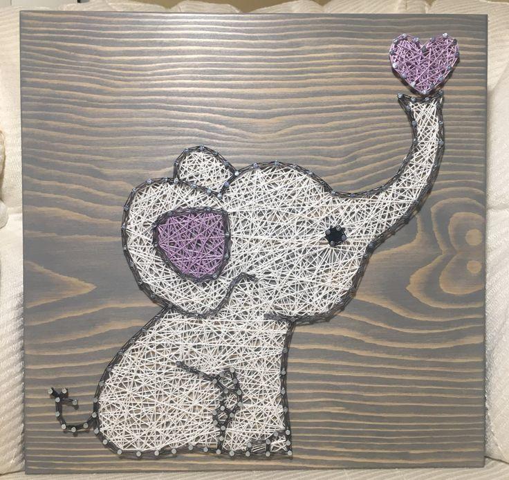 CUSTOM Elephant String Art Sign Baby