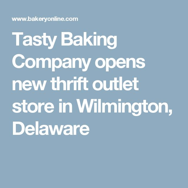 """""""Wilmington, Delaware will be the new home of Tasty Baking Company's first free-standing Thrift Outlet Store."""" """"All products will be offered at discounts of 40 to 75 percent off retail, according to W. Dan Nagle, Vice President of Route Sales and Food Service for Tasty Baking Company."""" As a $250 million dollar a year company, Tastykake looks to expand its profits and its' consumers by introducing more of these thrift outlets."""