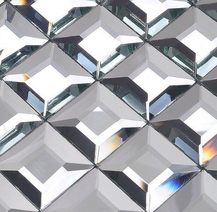 Mozaika Szklana Diamentowa Srebrna - homebook