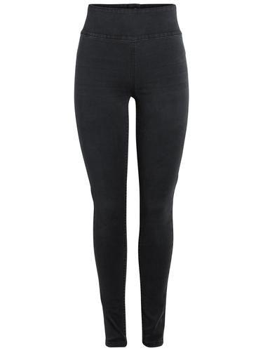 #PIECES #Damen #High #Waist #Jeggings #black #denim - High Waist - Jeggins - Slim Fit Jeans - Reißverschluss hinten - Kein Verschluss hinten