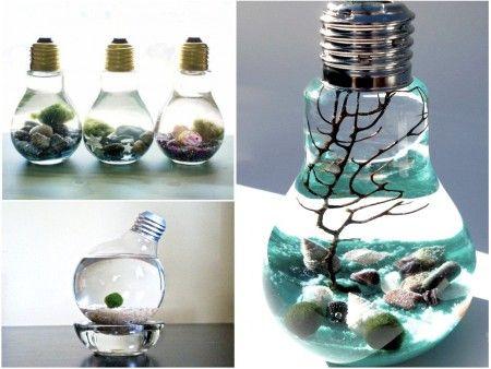 DIY: Crea un fantástico acuario con bombillas recicladas