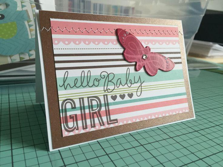 Hello Baby Girl card