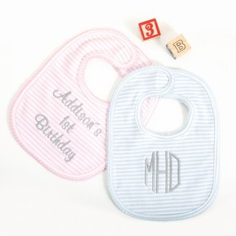 24 best baby gifts images on pinterest baby gifts baby presents personalized striped baby bibs add your message negle Choice Image