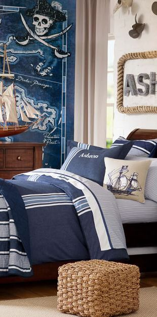 Kids Nautical Bedroom: A Nautical Theme Bedroom Is Great For Kids Who Love  Anything To Do With The Sea, Pirates U0026 Sailing. View Kids Nautical Decor U0026  Tips.