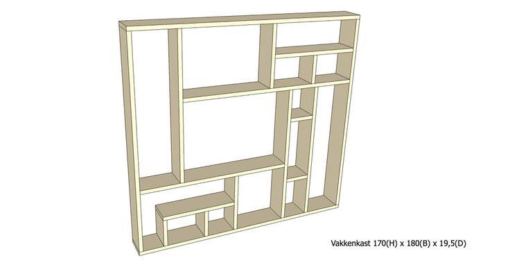 Vakkenkast 1401 (wordt gemaakt van steigerhout)