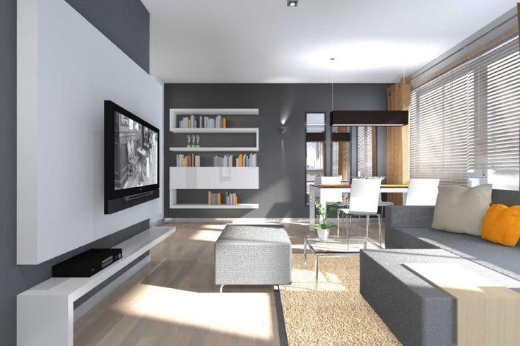 szara sofa w salonie - Google Search