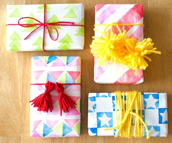 great gift wrap idea - Confetti Sunshine