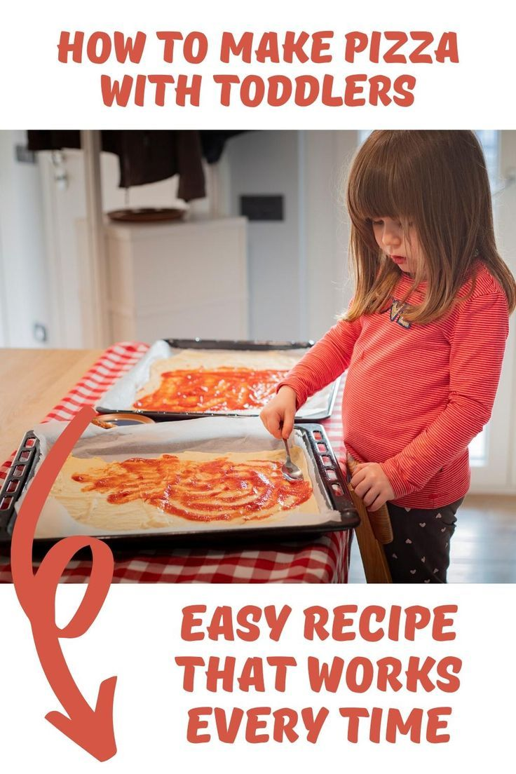 Easy Recipe To Make Pizza With Toddlers Recipe In 2020 Pizza Recipes Easy Cooking With Toddlers How To Make Pizza