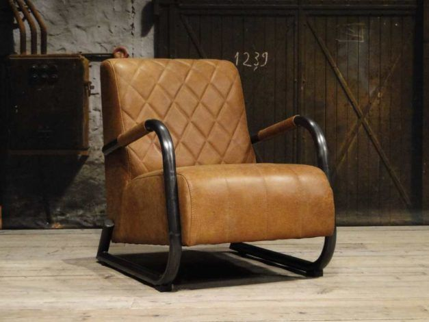 Industriële fauteuil alonso in stoel home