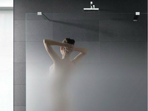 Vetro satinato progressivo per pareti doccia MADRAS® NUVOLA | Parete per doccia - Vitrealspecchi