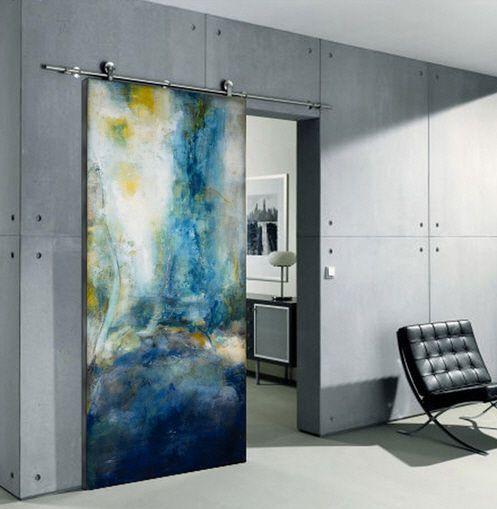 -Sliding door for masterbedroom bath (in different color theme) - ARMONI - Sargam Griffin ArtDoors