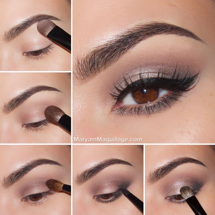 """I'm using Naked 2 Palette """"Foxy"""" eyeshadow to highlight and clean up my brow bone area.  I'm applying """"Busted"""" eyeshadow directly to my natural crease (fold) using a few windshield wiper strokes.  I'm applying """"Verve"""" eyeshadow to the blank portion of my lid and also using the fine edge to outline the inner corner."""