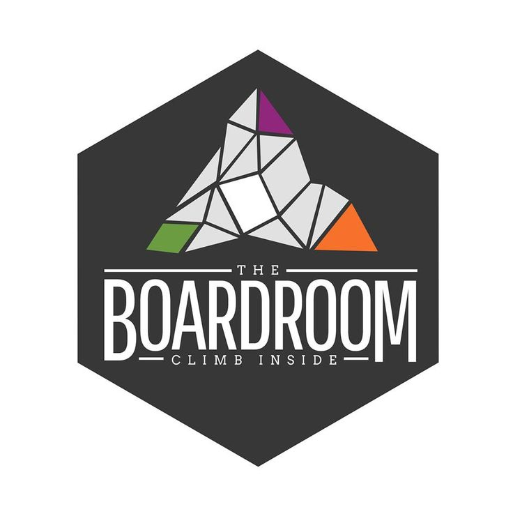 Logo The Boardroom, new climbing center in the UK. Very very nice design! I like!