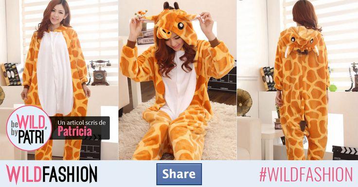 Îți plac girafele? Share pentru un animăluț haios și colorat perfect de purtat sub formă de pijama :)