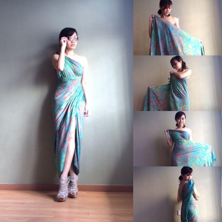 Toga wrap dress tutorial