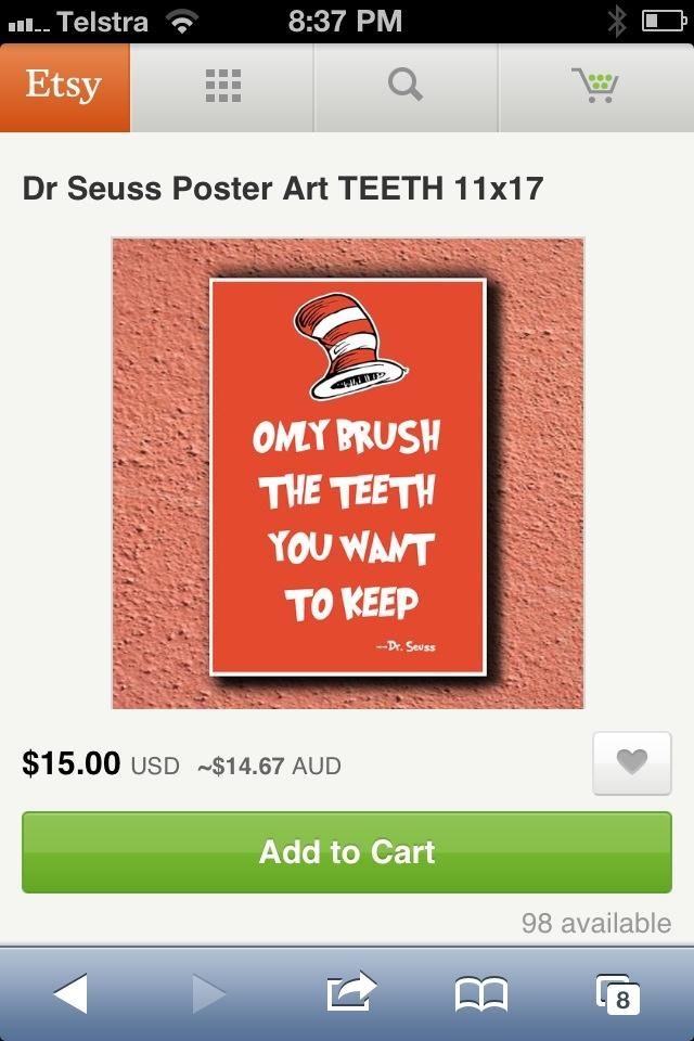 Dr Seuss gives great dental advice!