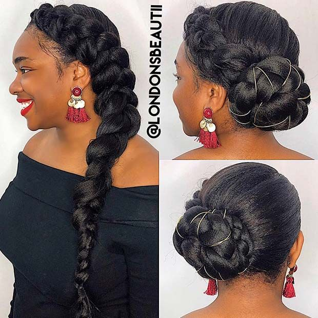 43 Beautiful Ways To Rock A Butterfly Braid Stayglam Natural Hair Styles Braided Hairstyles Butterfly Braid