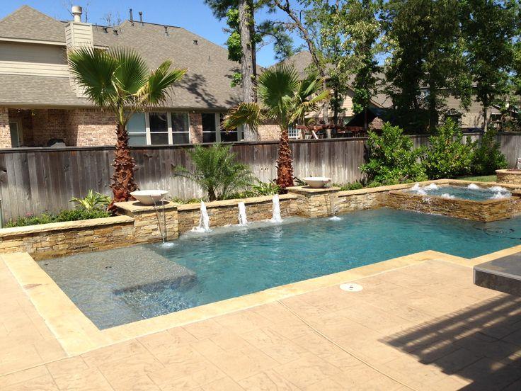Geometric regal pools houston pool builder backyard for Pool design houston tx