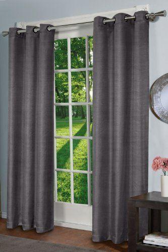 Design Decor Raw Silk Curtain Panel Black Pearl By Design Decor
