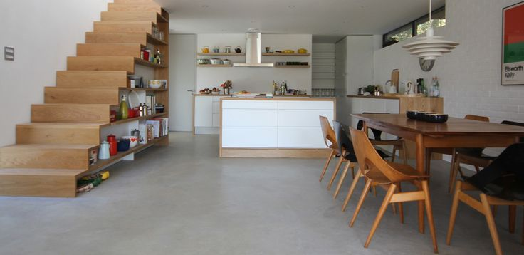 beautiful kitchen and understairs storage (grand designs - kathryn tyler's amazing design in her own home)