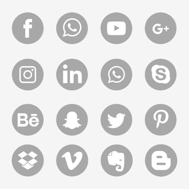 Icone Grigie Social Media Impostare Il Simbolo Icone Sociali Icone Social Media Social Media Png E Vector Per Il Download Gratuito Social Media Icons Media Icon Social Media Icons Free