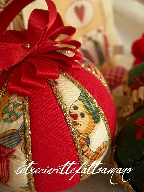 Christmas fabric ornaments
