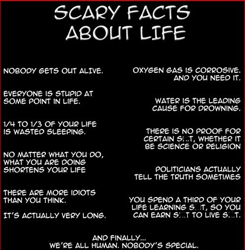 scary facts about life quotes facts pinterest beautiful funny
