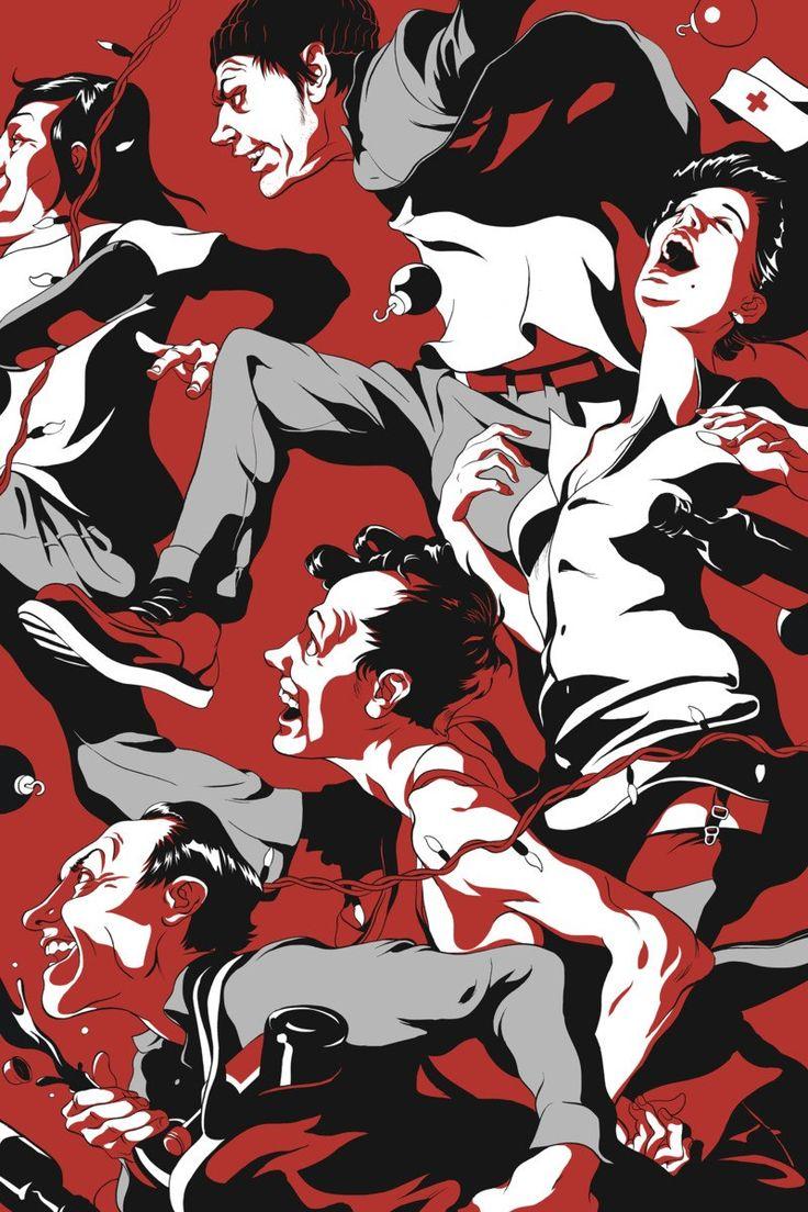 Steppenwolf40: One Flew Over the Cuckoo's Nest  Cun Shi, illustrator  Steve Hahn, associate creative director  Joe Sciarrotta, chief creative officer  Gabriel Usadel, design director  Ogilvy & Mather Chicago, ad agency  Steppenwolf Theatre Company, client  #design #posterdesign #graphicdesign
